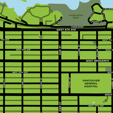 Fairview Neighbourhood Map Print (Vancouver)