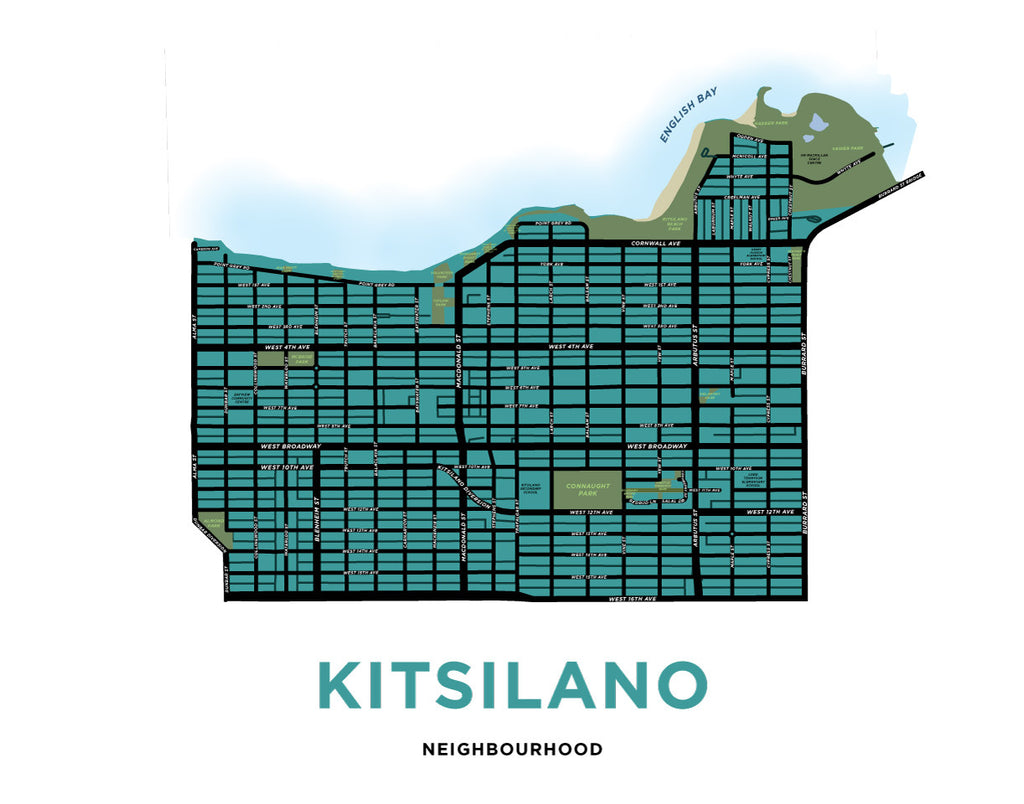 Kitsilano Neighbourhood Map Print