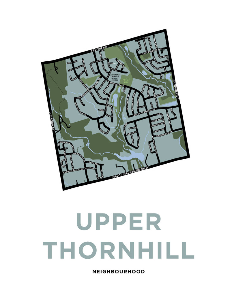Custom Map: Upper Thornhill Neighbourhood