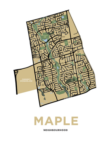 Maple Neighbourhood Map Print (Vaughan, Ontario)