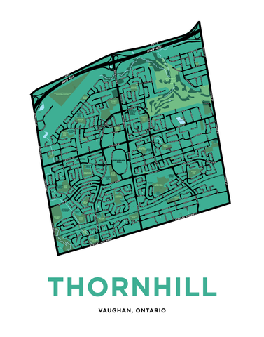 Thornhill Map Print (Vaughan Side)