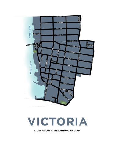 Victoria - Downtown Neighbourhood Map