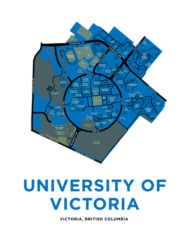 University of Victoria Campus Map Print
