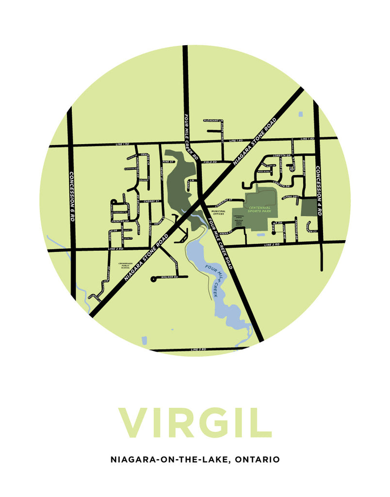 Virgil Map Print (Niagara-On-The-Lake)