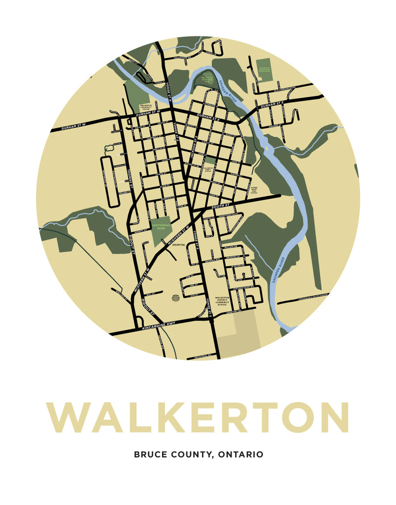 Walkerton Map Print