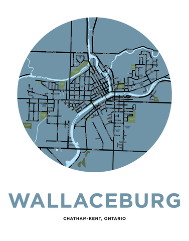 Wallaceburg Map Print