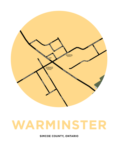 Warminster Map Print