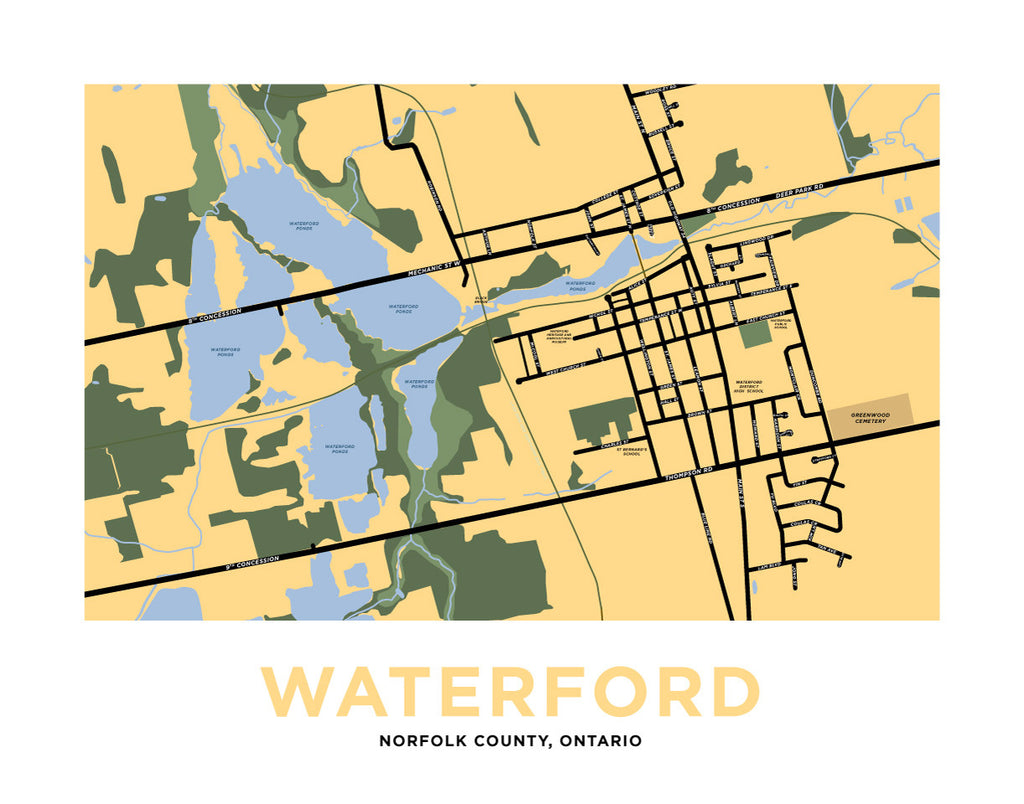 Waterford Map Print