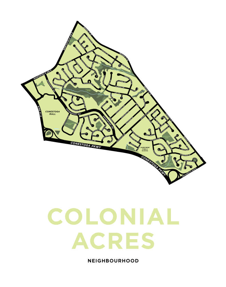 Colonial Acres Neighbourhood Map Print