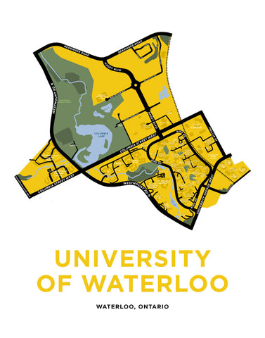 University of Waterloo Campus Map Print