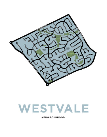 Westvale Neighbourhood Map Print