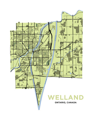 Welland Map Print