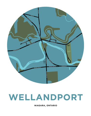 Wellandport Map Print