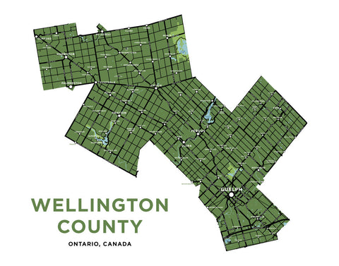 Wellington County Map Print