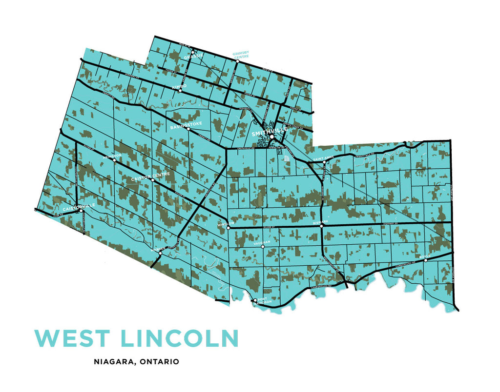 West Lincoln Map Print