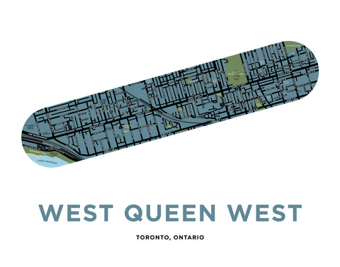 West Queen West Map Print