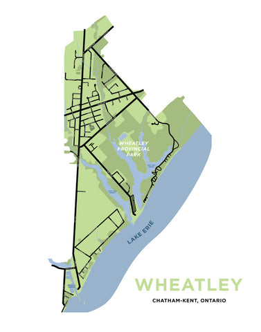 Wheatley, Ontario Map Print
