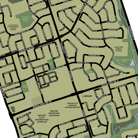Pringle Creek Neighbourhood Map Print