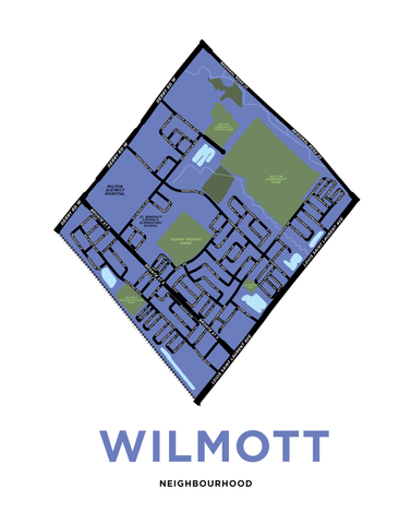 Wilmott Neighbourhood Map Print