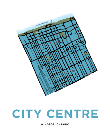 Windsor City Centre Neighbourhood Map Print