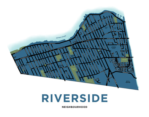 Riverside Neighbourhood Map Print