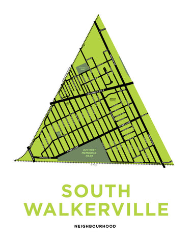 South Walkerville Neighbourhood Map Print