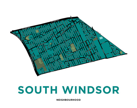South Windsor Neighbourhood Map Print