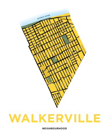 Walkerville Neighbourhood Map Print