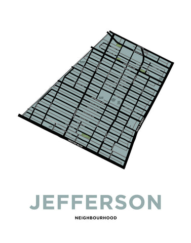 Jefferson Neighbourhood Map Print (Winnipeg)