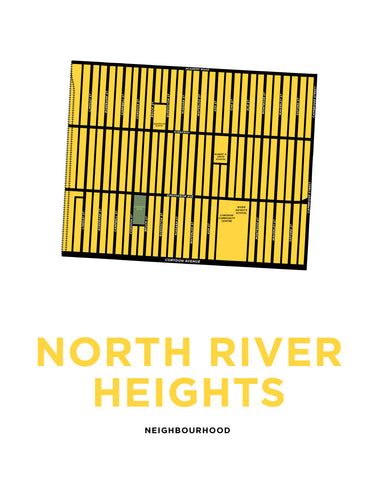 North River Heights Neighbourhood Map Print