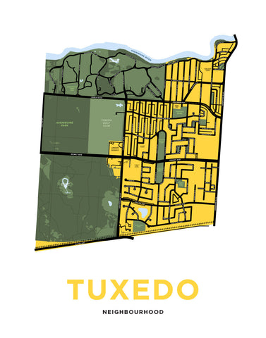 Tuxedo and Area Neighbourhood Map (Winnipeg)