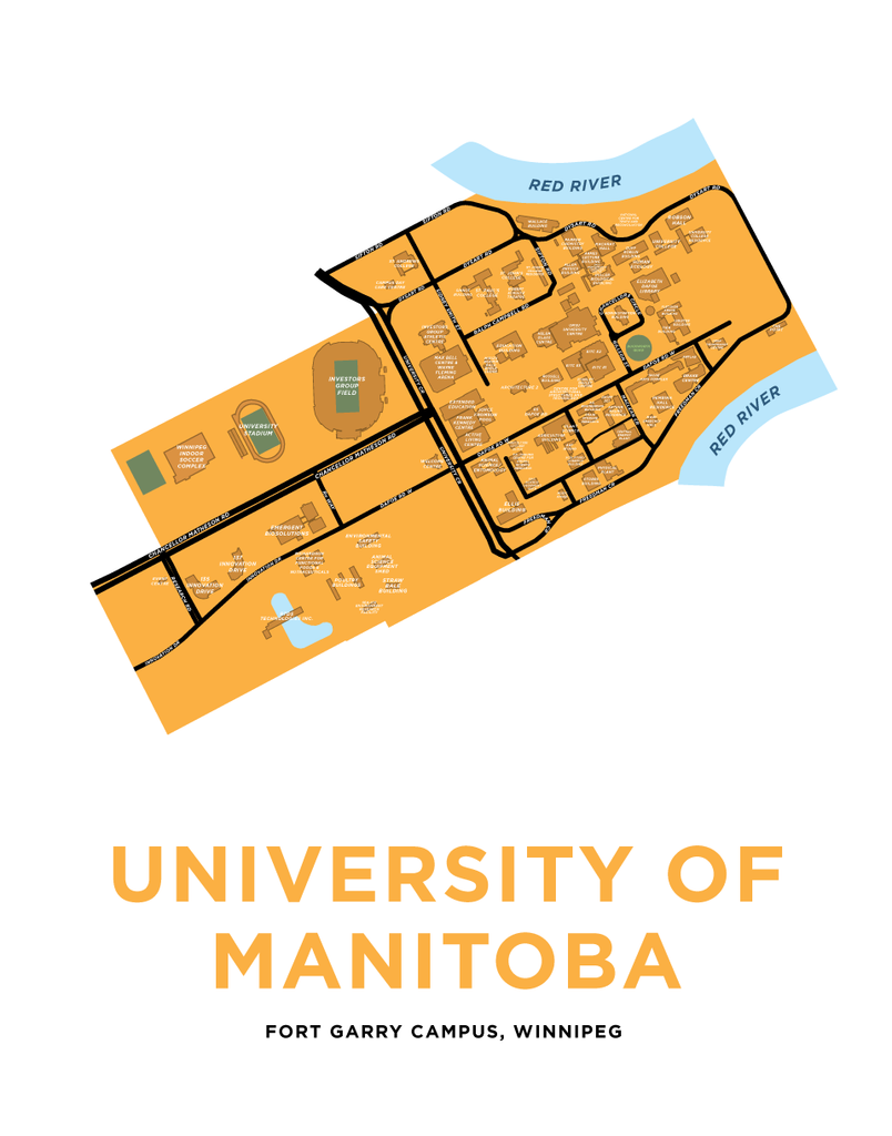 University of Manitoba Map Print