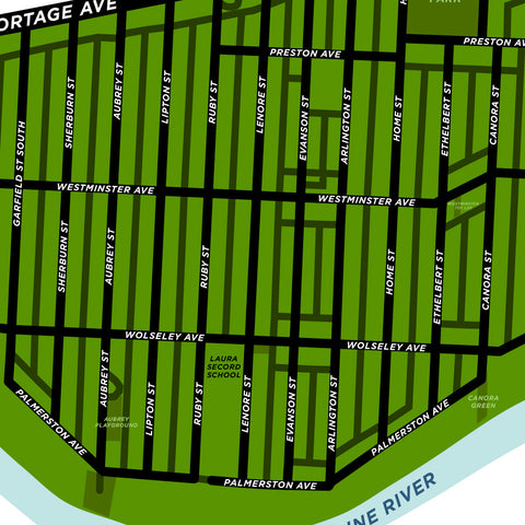 Wolseley Neighbourhood Map Print