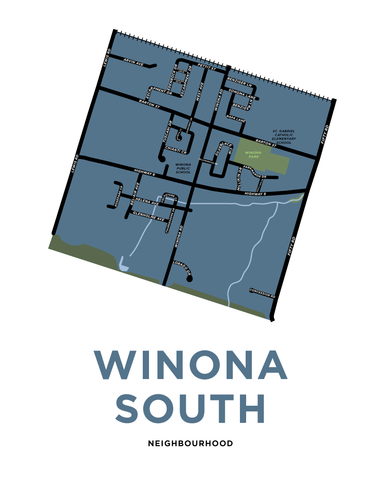 Winona South Neighbourhood Map