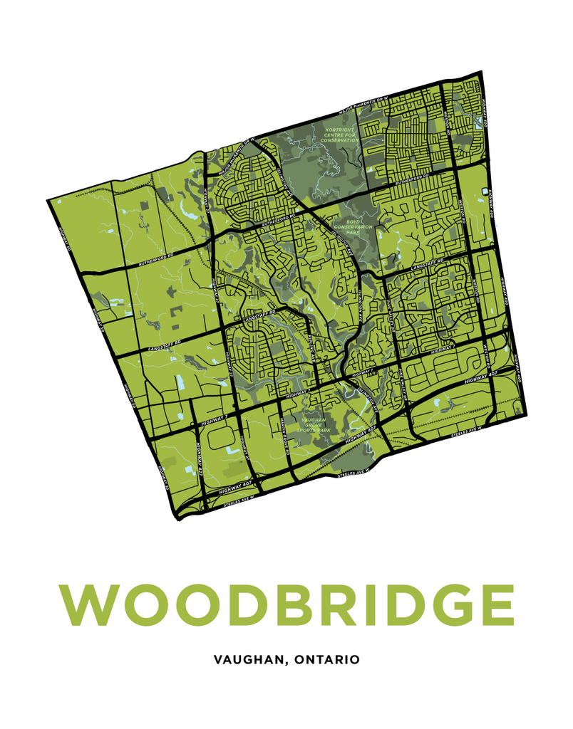 Woodbridge Map Print