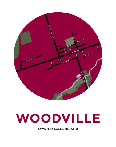 Woodville Map Print