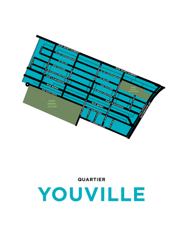 Youville Neighbourhood Map Print