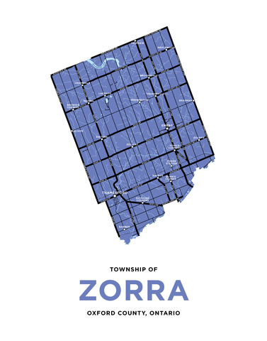 Zorra Township Map Print