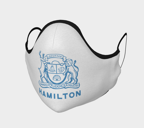 HAMILTON COAT OF ARMS WHITE MASK
