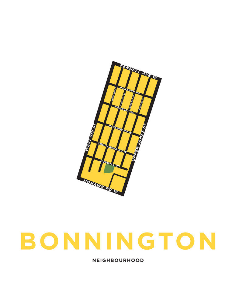 Bonnington Neighbourhood Map
