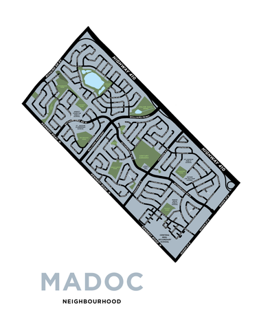 Madoc Neighbourhood Map Print