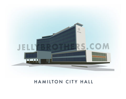 Hamilton City Hall - Digital Print