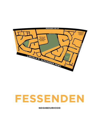Fessenden Neighbourhood Map