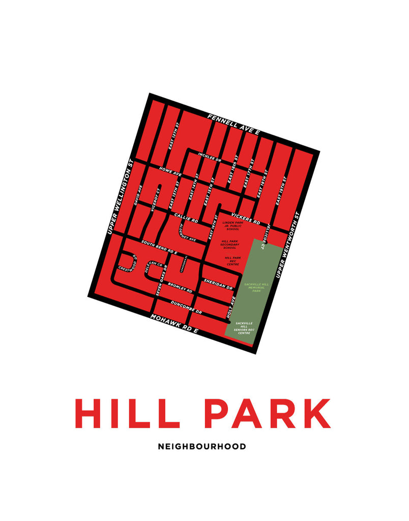 Hill Park Neighbourhood Map