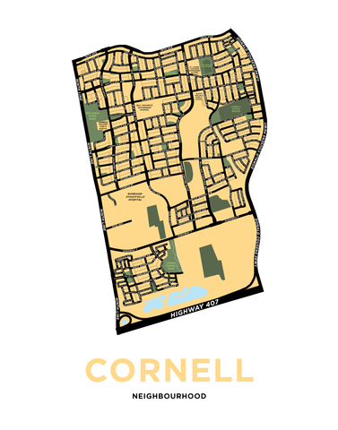 Cornell Neighbourhood Map Print