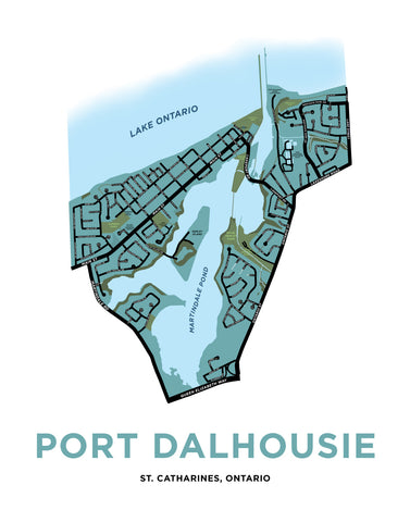 Port Dalhousie Map Print