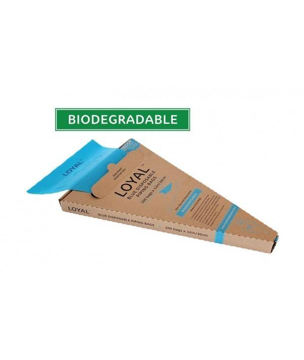 12inch Blue Disposable Biodegradable Piping Bags 100 pack