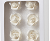 Rose Medium WHITE 8 Pack
