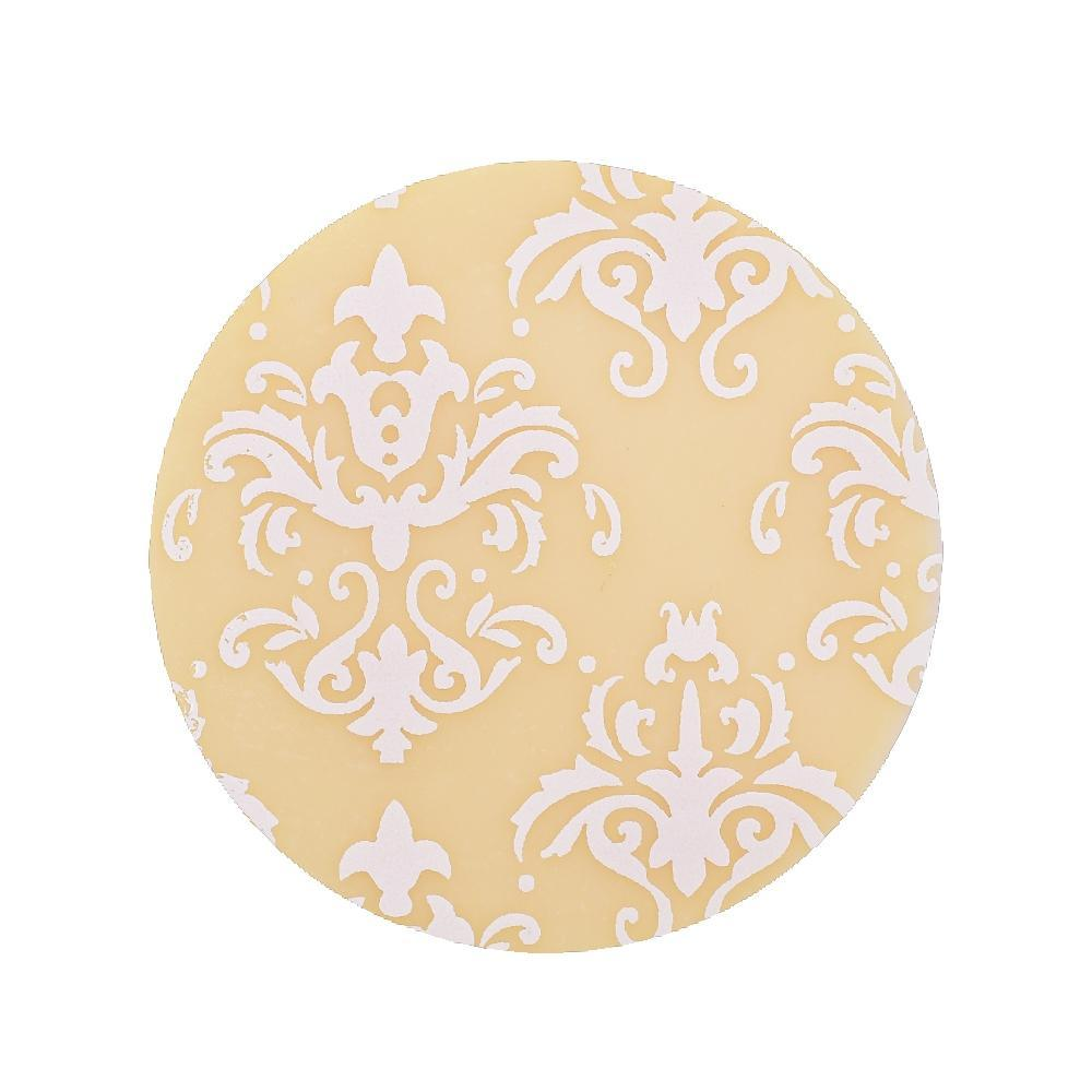 WHITE DAMASK Chocolate Transfer Sheet