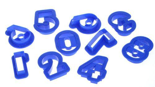 Plastic Cutters NUMBERS